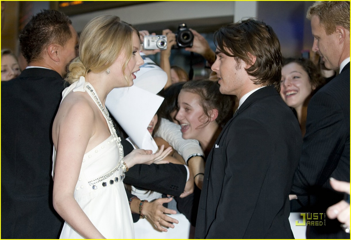 Zac Efron Premieres 17 Again Photo 95611 Taylor Swift Zac Efron Pictures Just Jared Jr