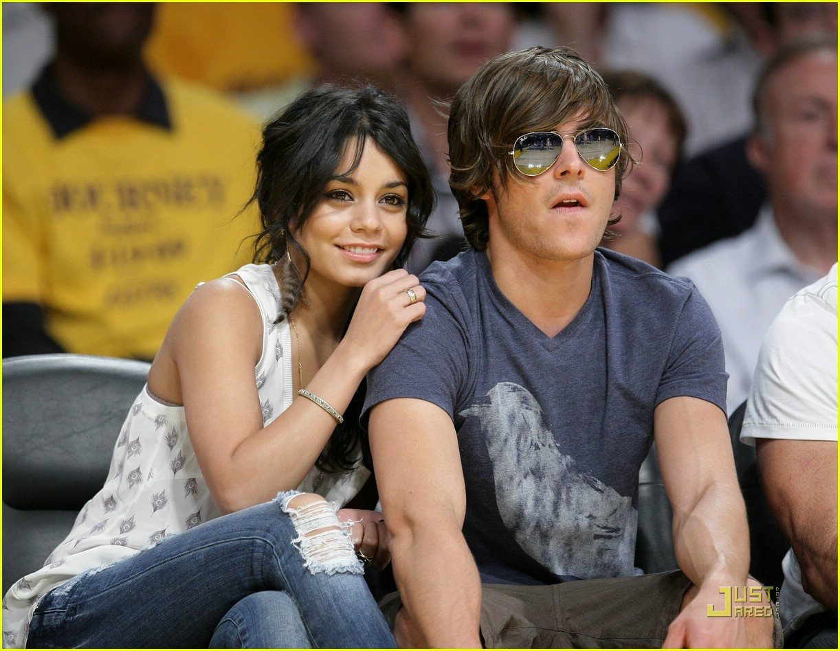 zac efron vanessa hudgens lakers 07