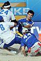 taylor lautner face sand football 34