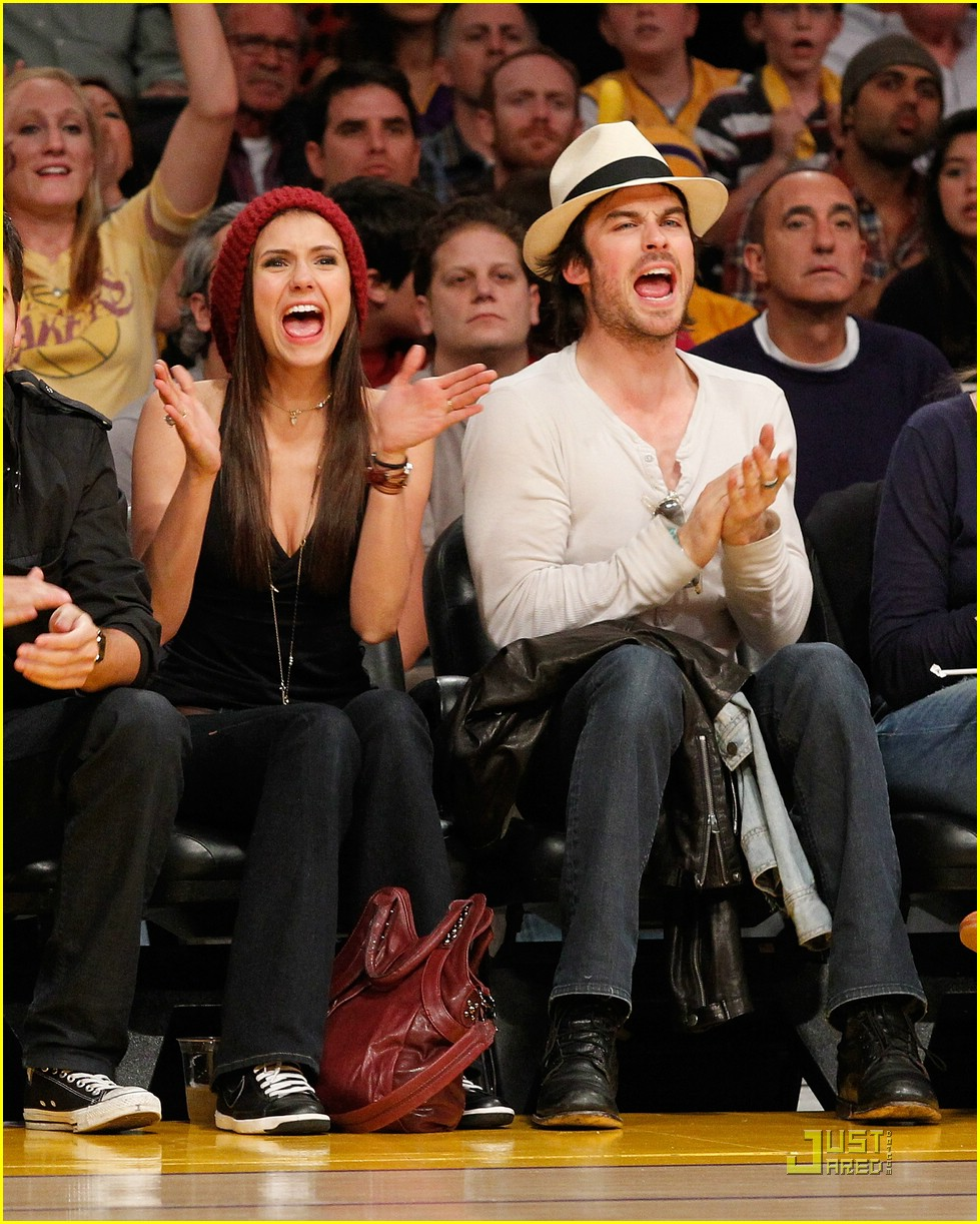 nina dobrev lakers game deathgames 02