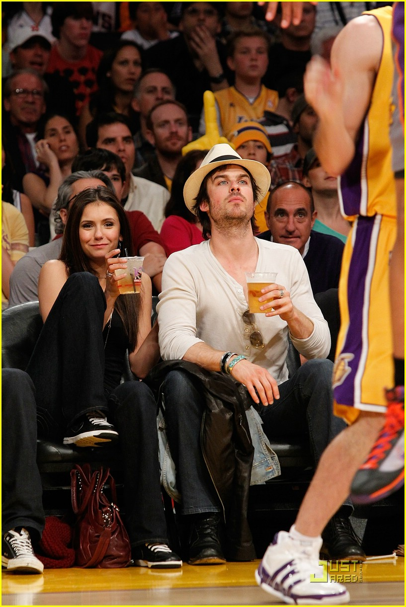 nina dobrev lakers game deathgames 04