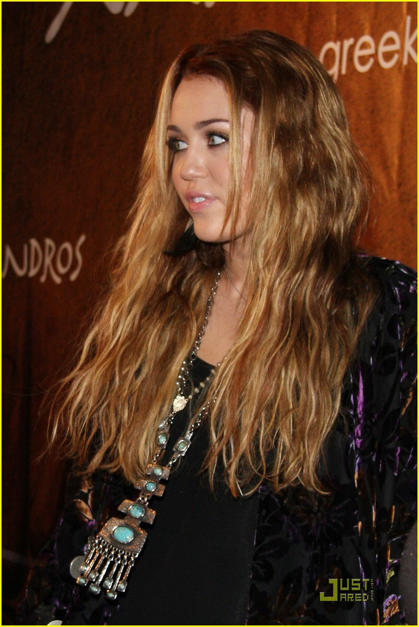 Miley Cyrus Goes Greek For Xandros | Photo 389148 - Photo ...