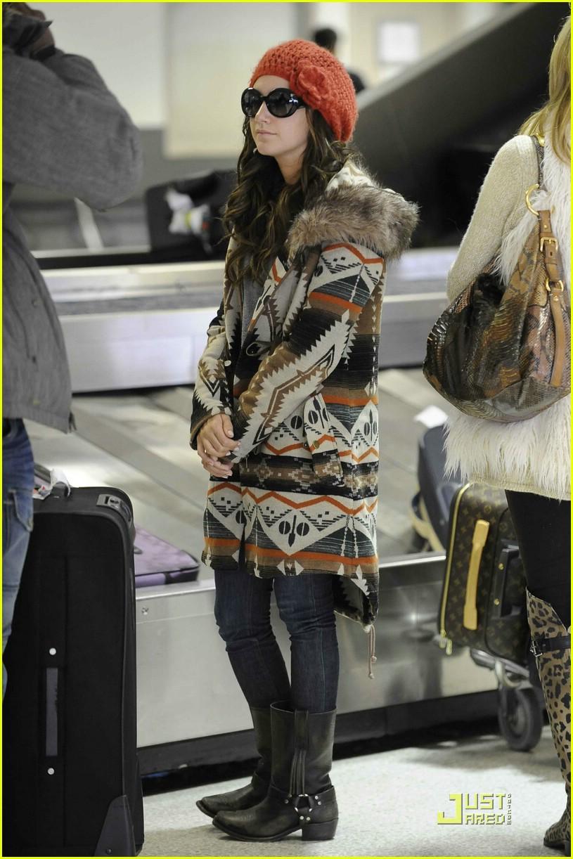 ashley tisdale fur hoodie 08