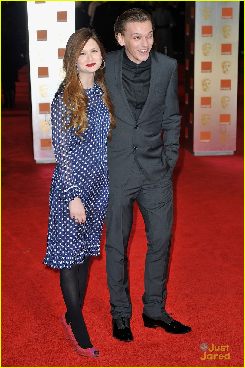 Bonnie Wright & Jamie Campbell Bower: BAFTAs 2012 | Photo ...