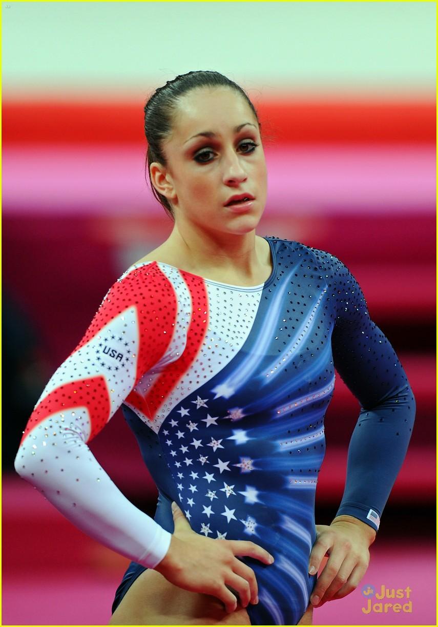Aly Raisman Gold Medal On The Floor At 2012 Olympics
