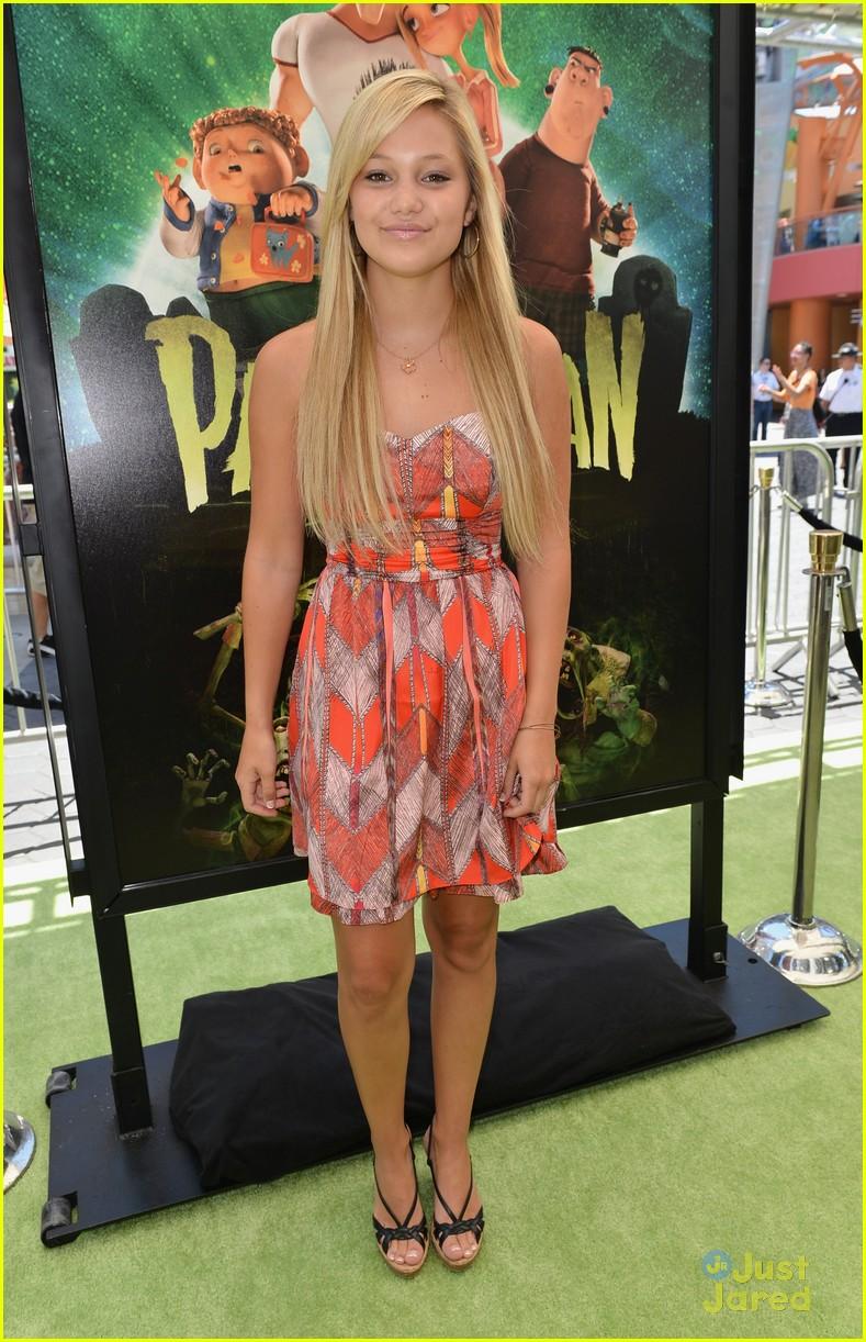 Olivia Holt Celebrates Birthday at 'ParaNorman' Premiere