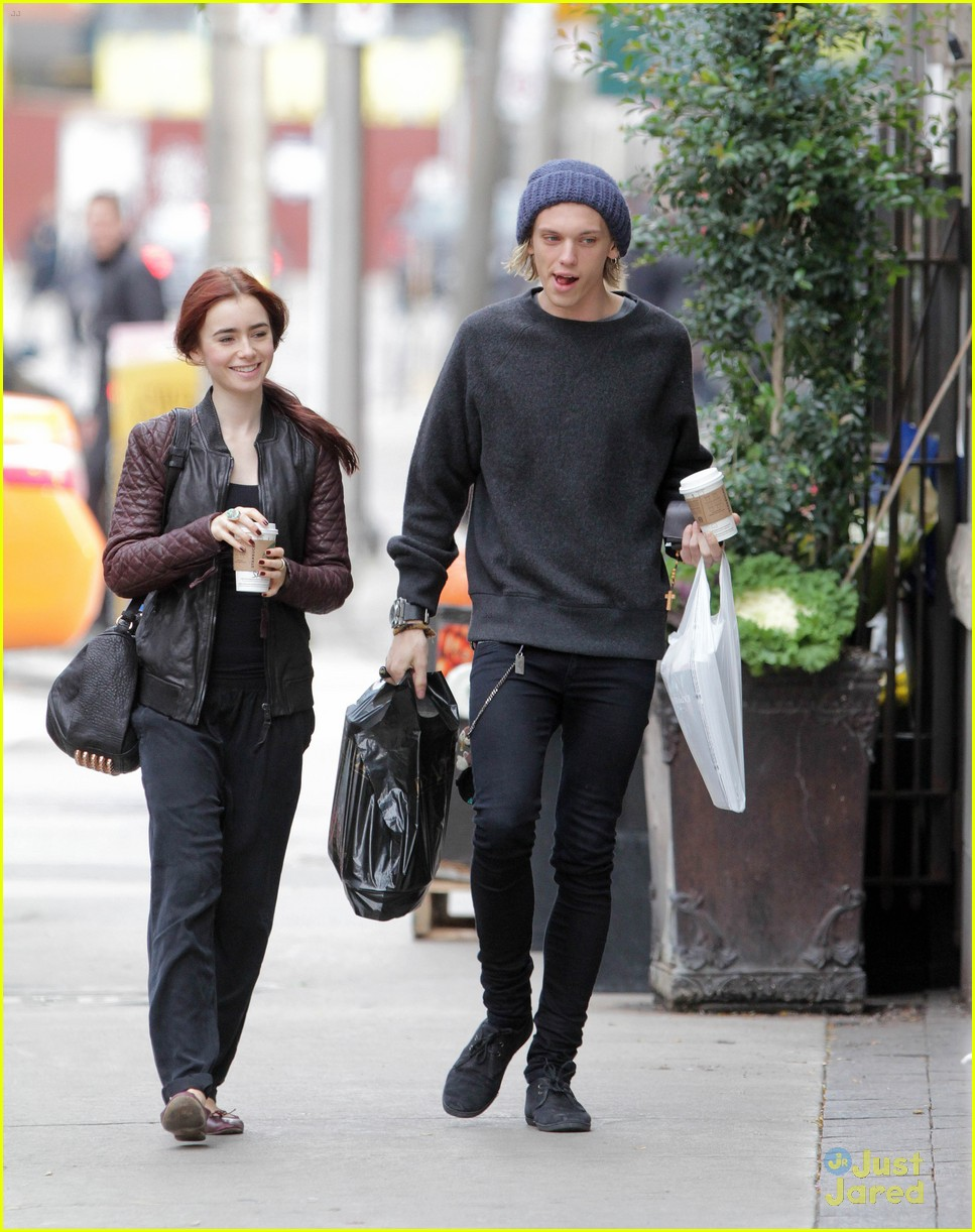 lily collins jamie bower coffee run 10