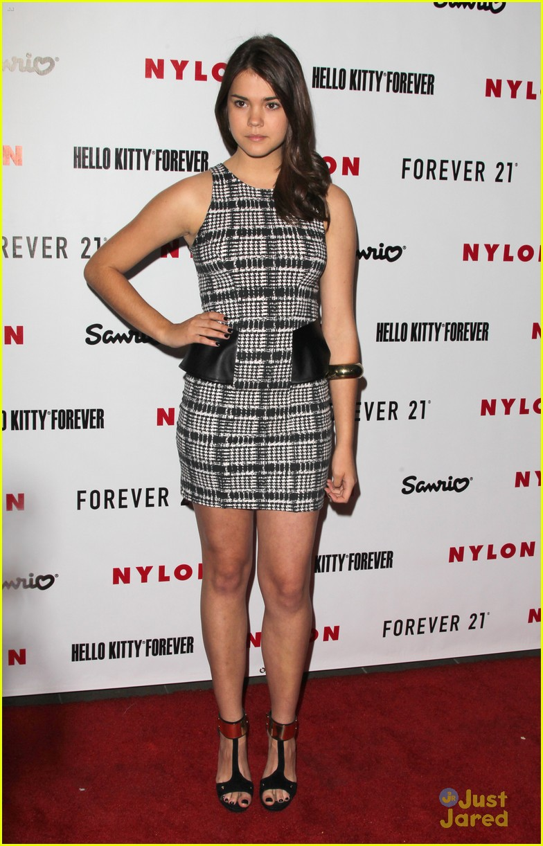 maia mitchell hello kitty launch with taylor spreitler