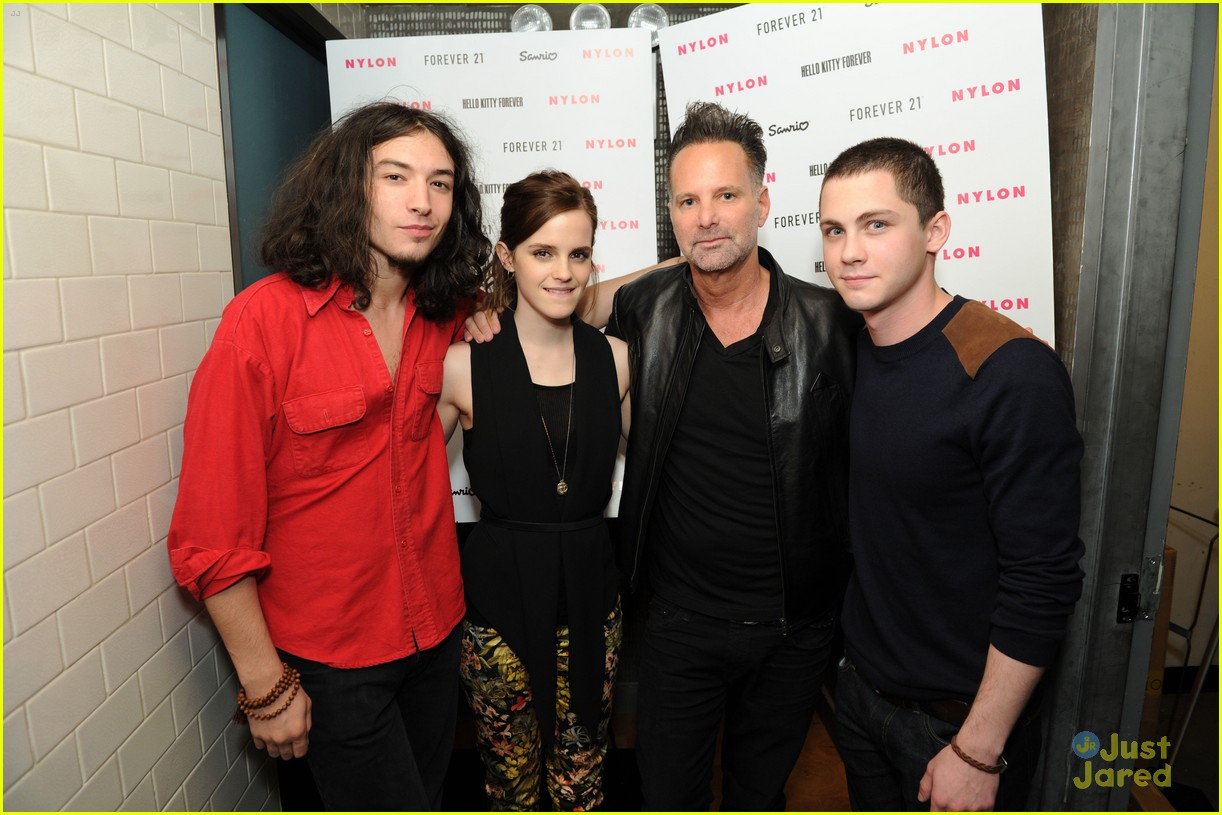 emma watson nylon dinner logan lerman 02