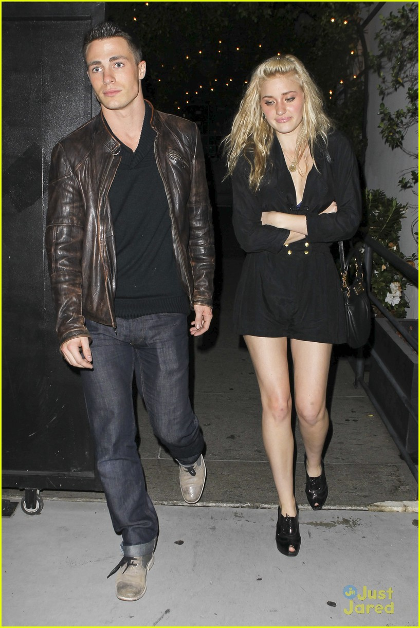 aj michalka colton haynes dinner 01