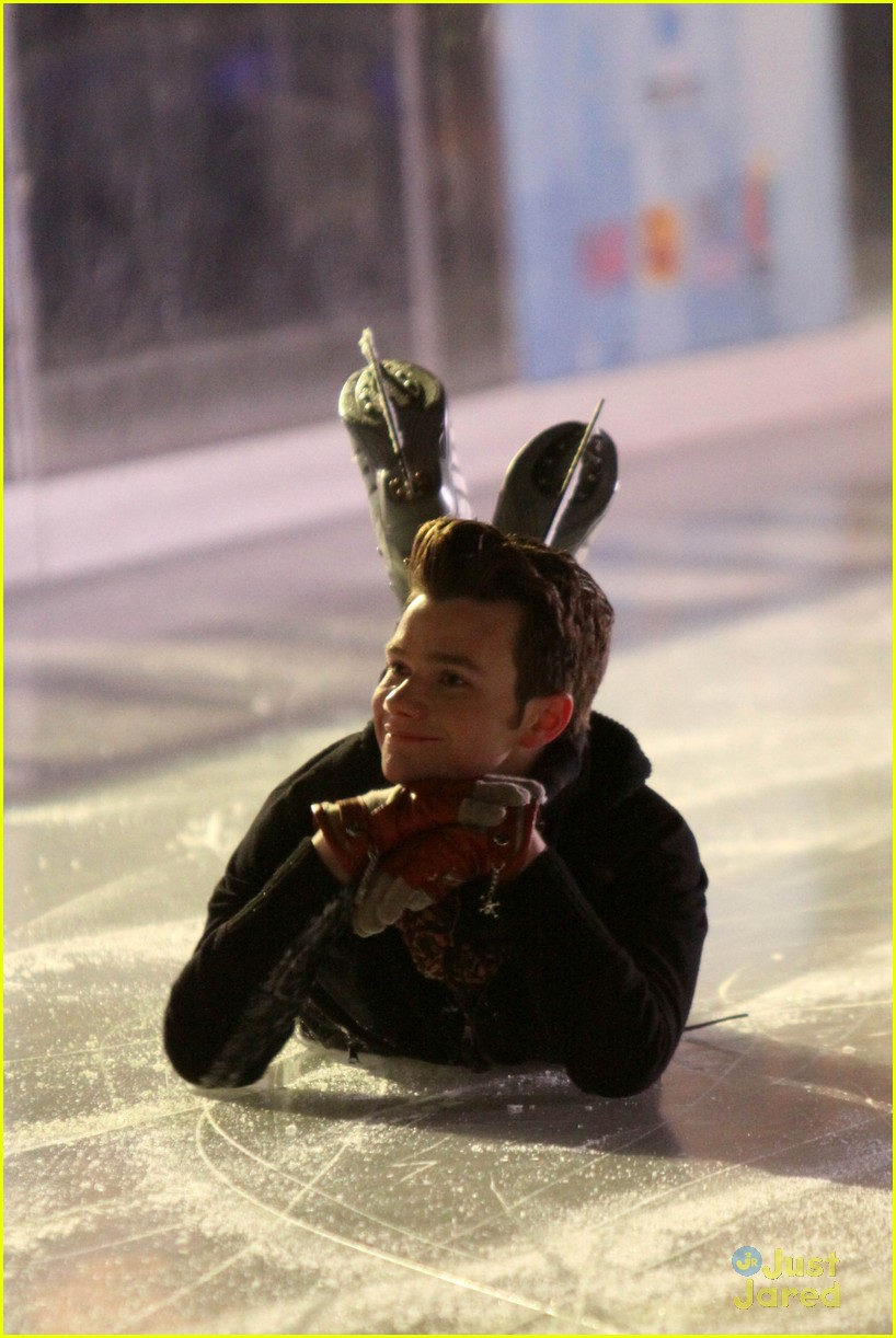 chris colfer darren criss ice skating 01