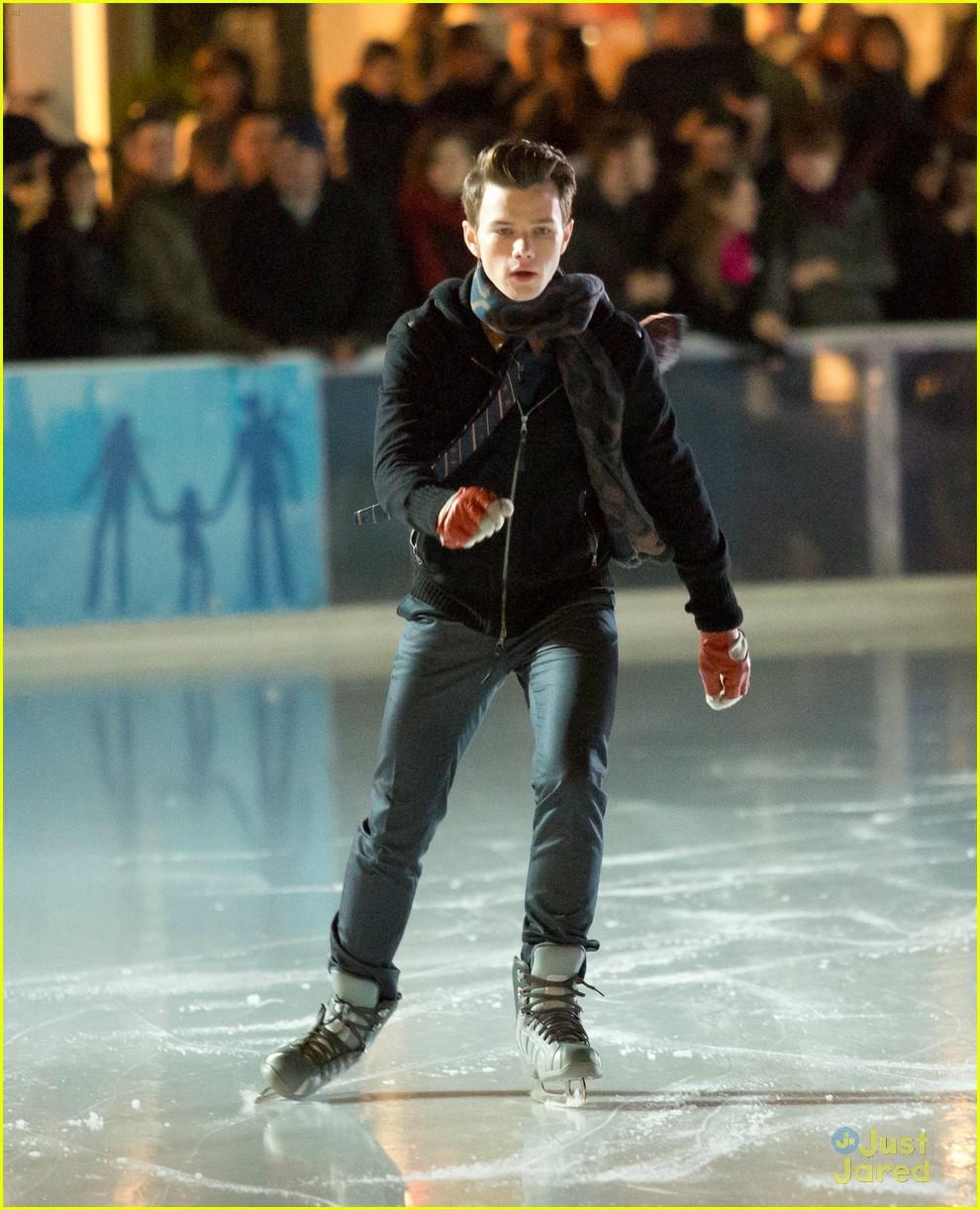 chris colfer darren criss ice skating 09