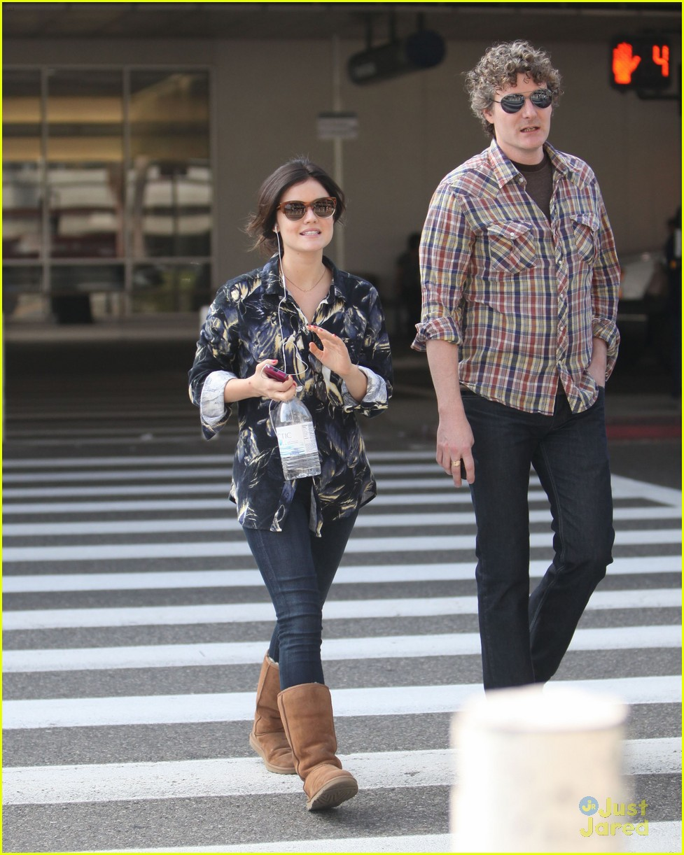 lucy hale lax arrival 06