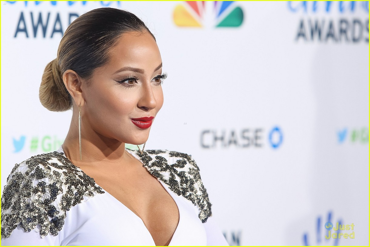 adrienne bailon giving awards xfactor viewing party 05