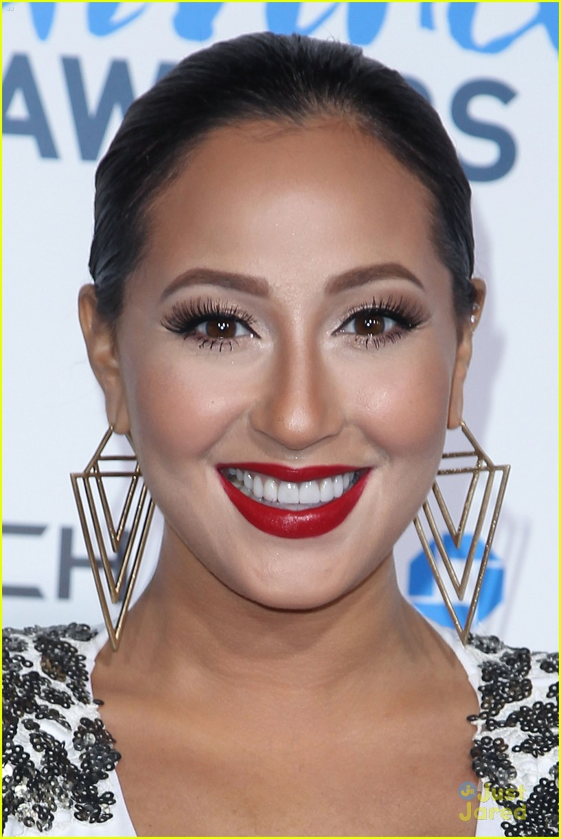 adrienne bailon giving awards xfactor viewing party 07