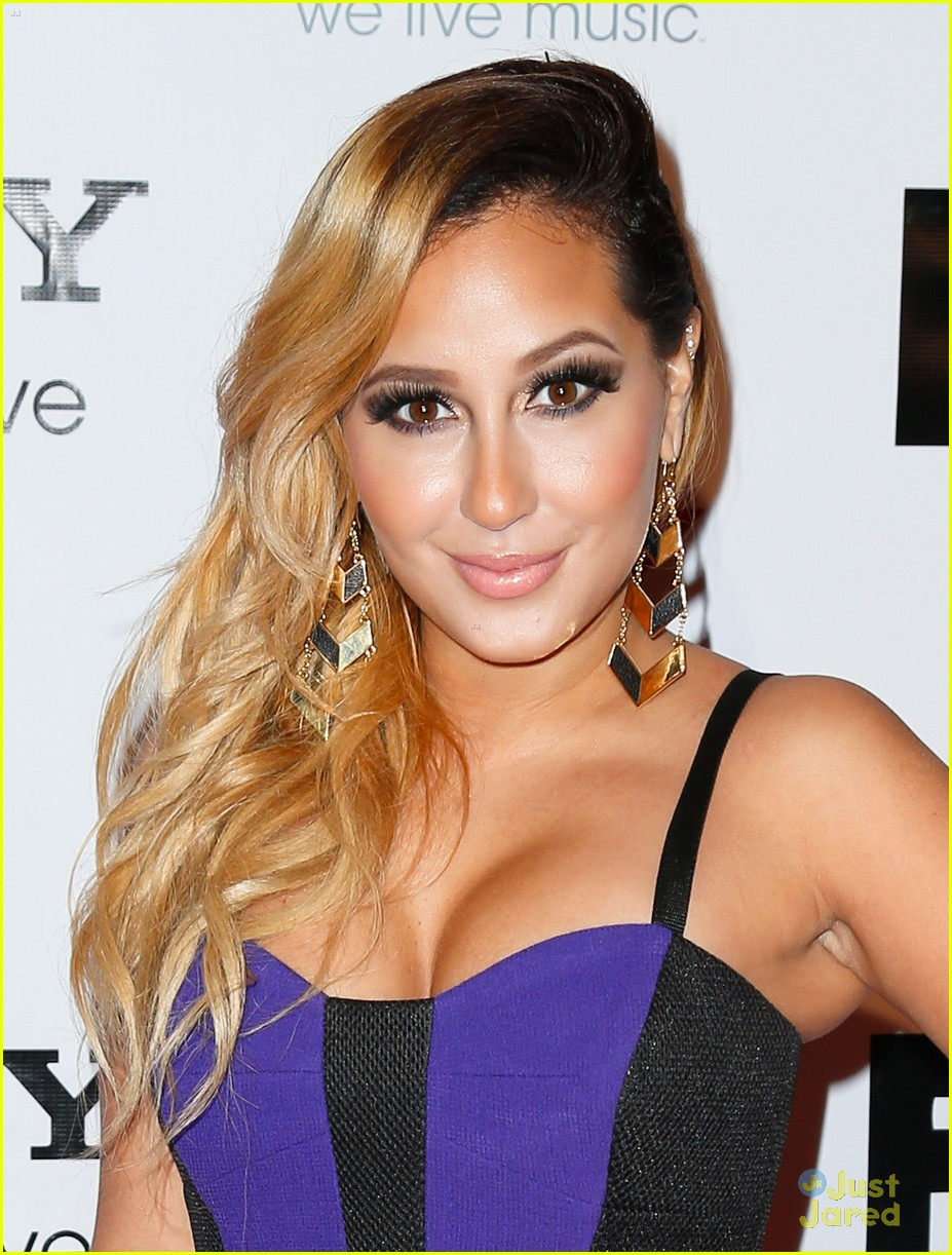 adrienne bailon giving awards xfactor viewing party 09