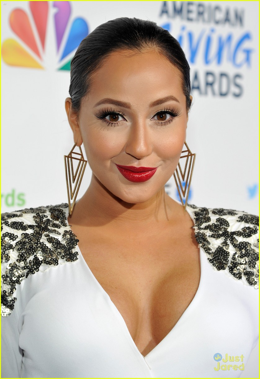 adrienne bailon giving awards xfactor viewing party 13