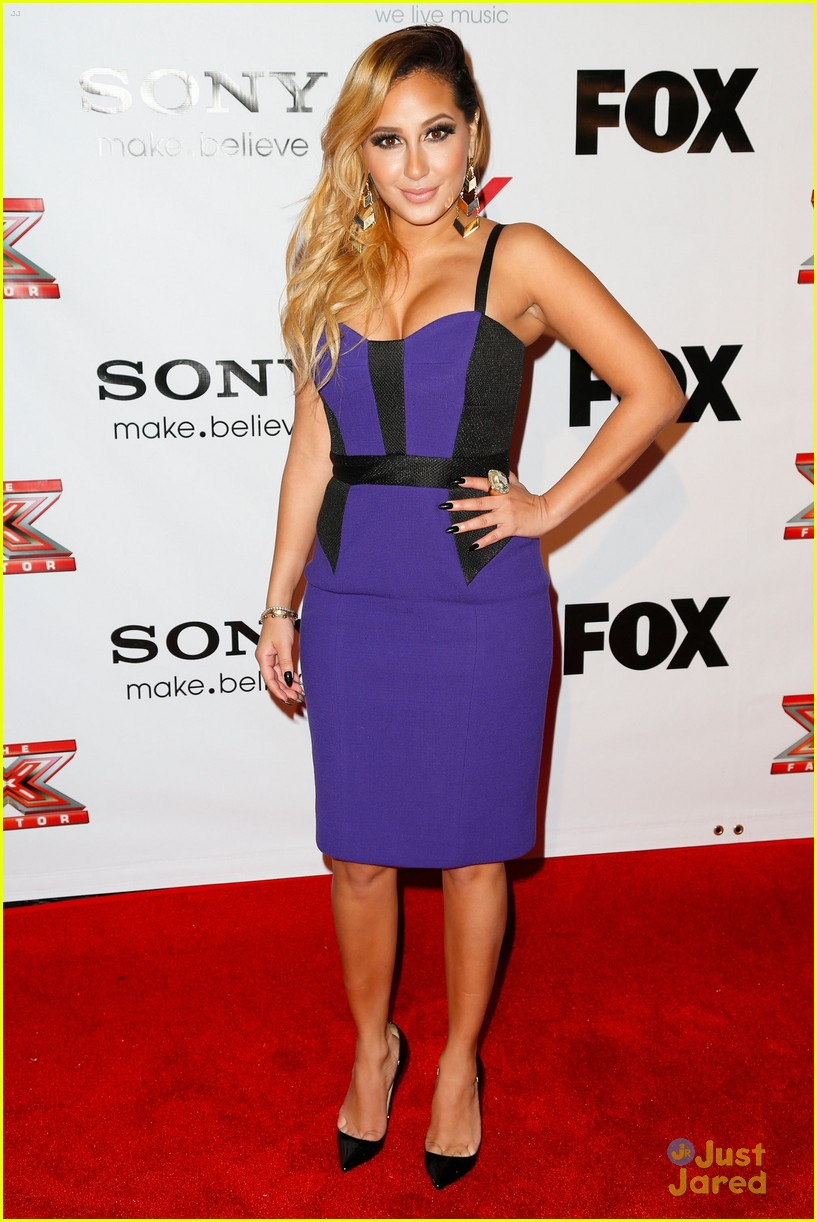 adrienne bailon giving awards xfactor viewing party 14