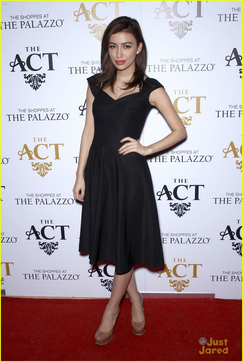 christian serratos vegas holiday party 05