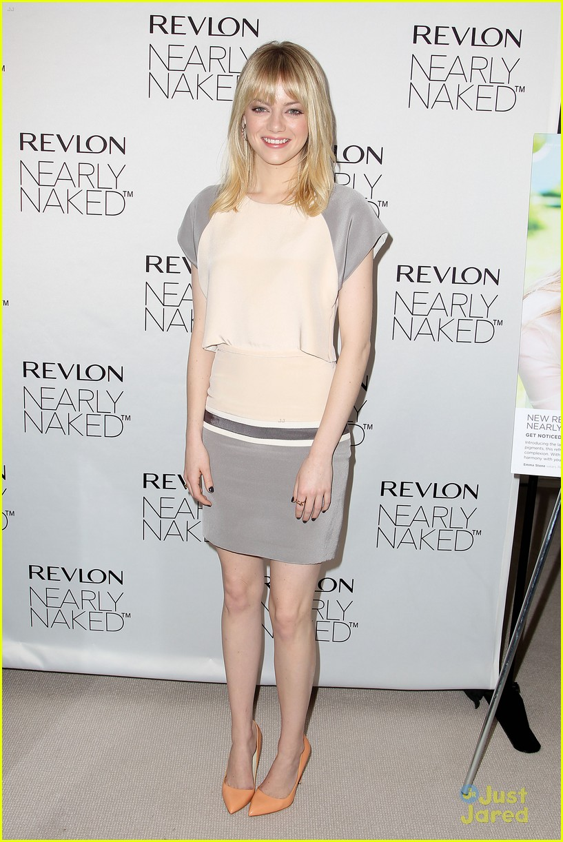 emma stone nearly naked revlon 14