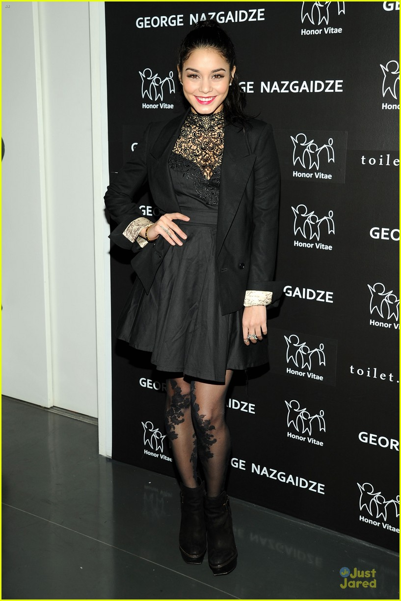vanessa hudgens charity meets fashion holiday celebration 01