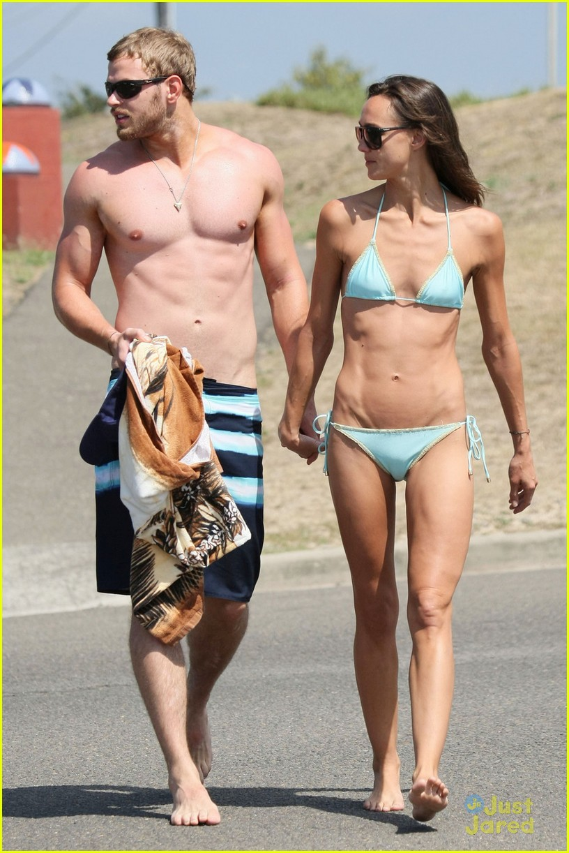 kellan lutz shirtless beach day with sharni vinson 25