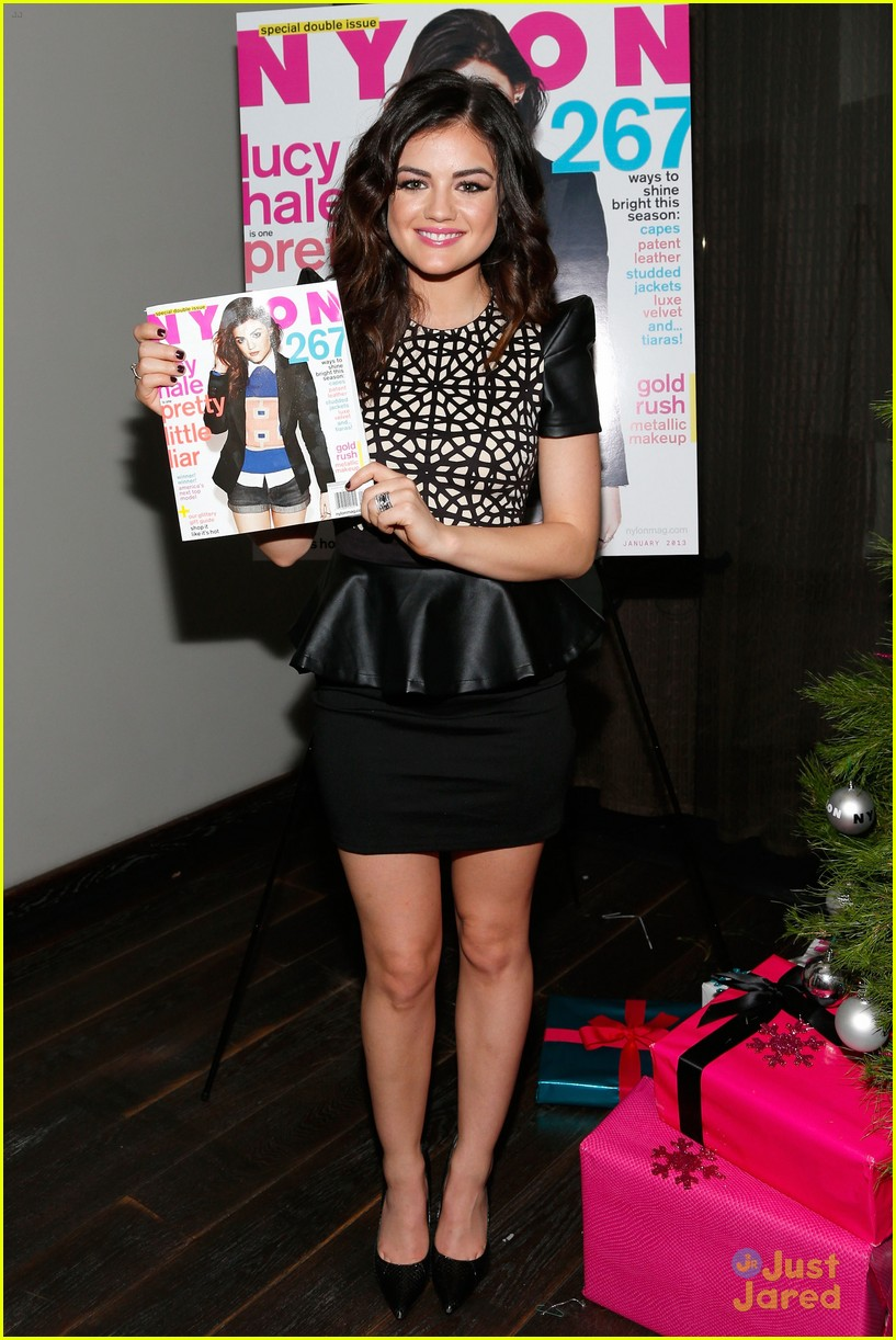 lucy hale nylon cover dinner 17