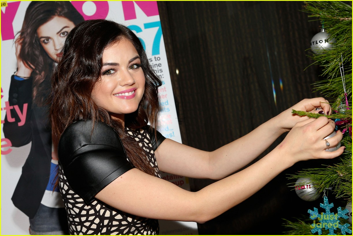lucy hale nylon cover dinner 20