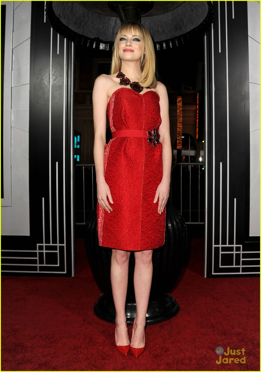 emma stone gangster premiere 12