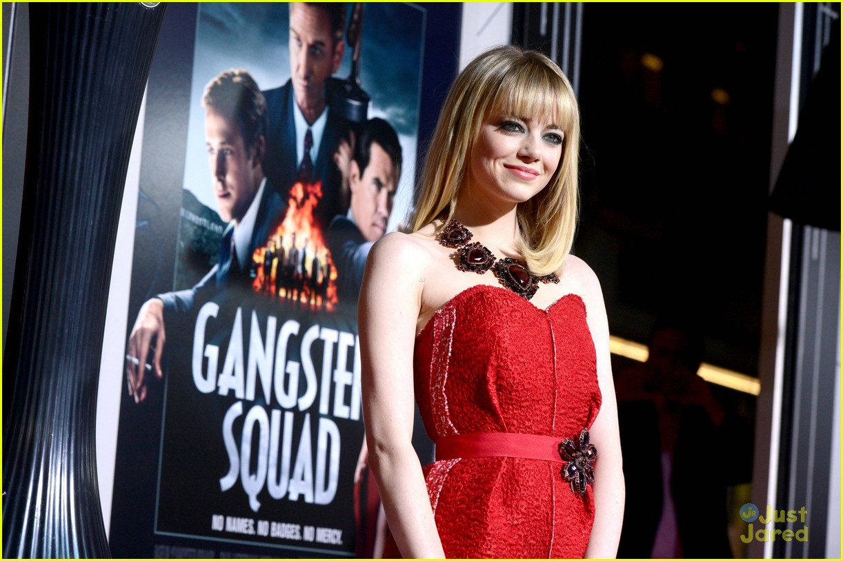 emma stone gangster premiere 16