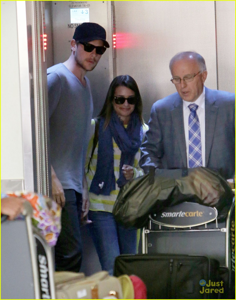 lea michele cory monteith lax 04
