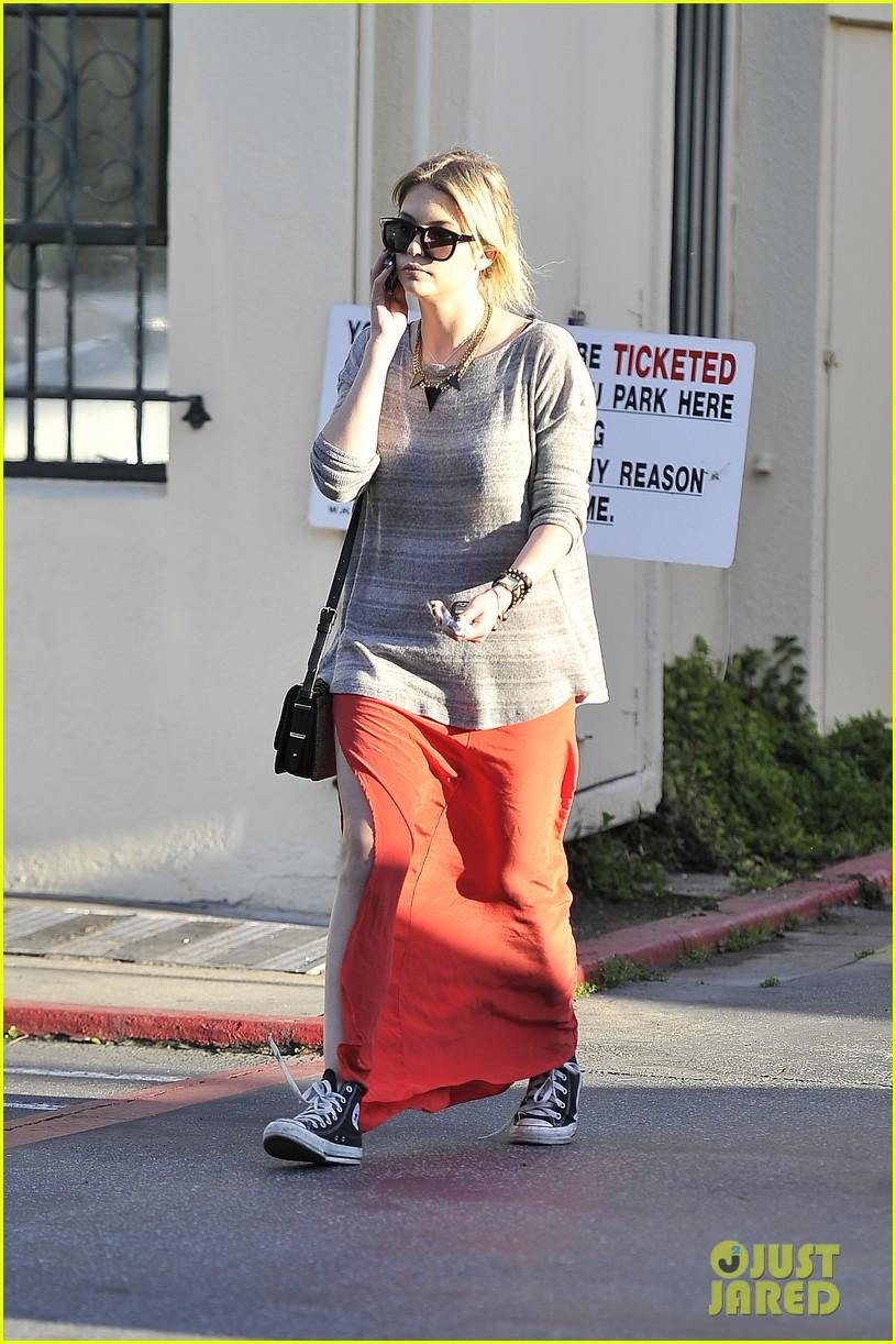 ashley benson sunday skirt sneakers 02
