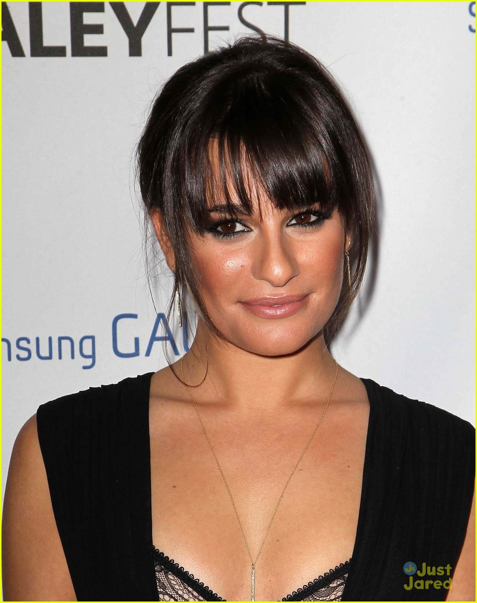 lea michele cory monteith inaugural paleyfest icon award pair 02