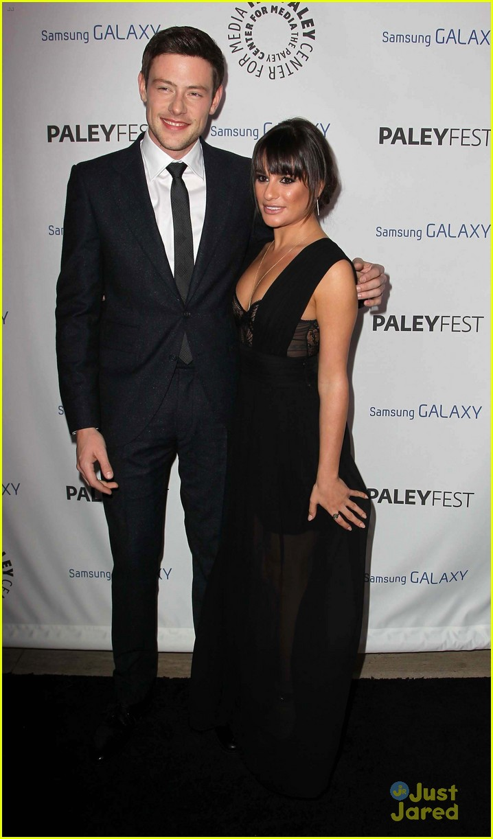 lea michele cory monteith inaugural paleyfest icon award pair 03