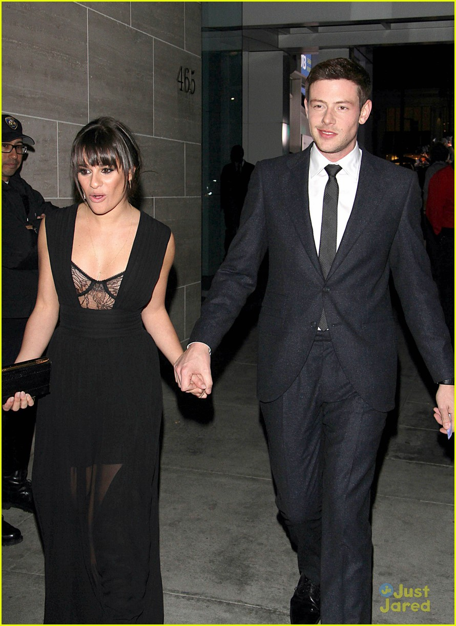 lea michele cory monteith inaugural paleyfest icon award pair 16