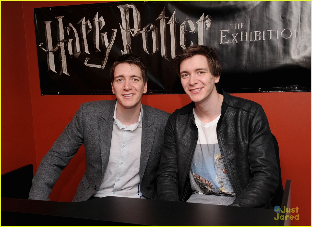 James & Oliver Phelps Stop by the Harry Potter Exhibition ...