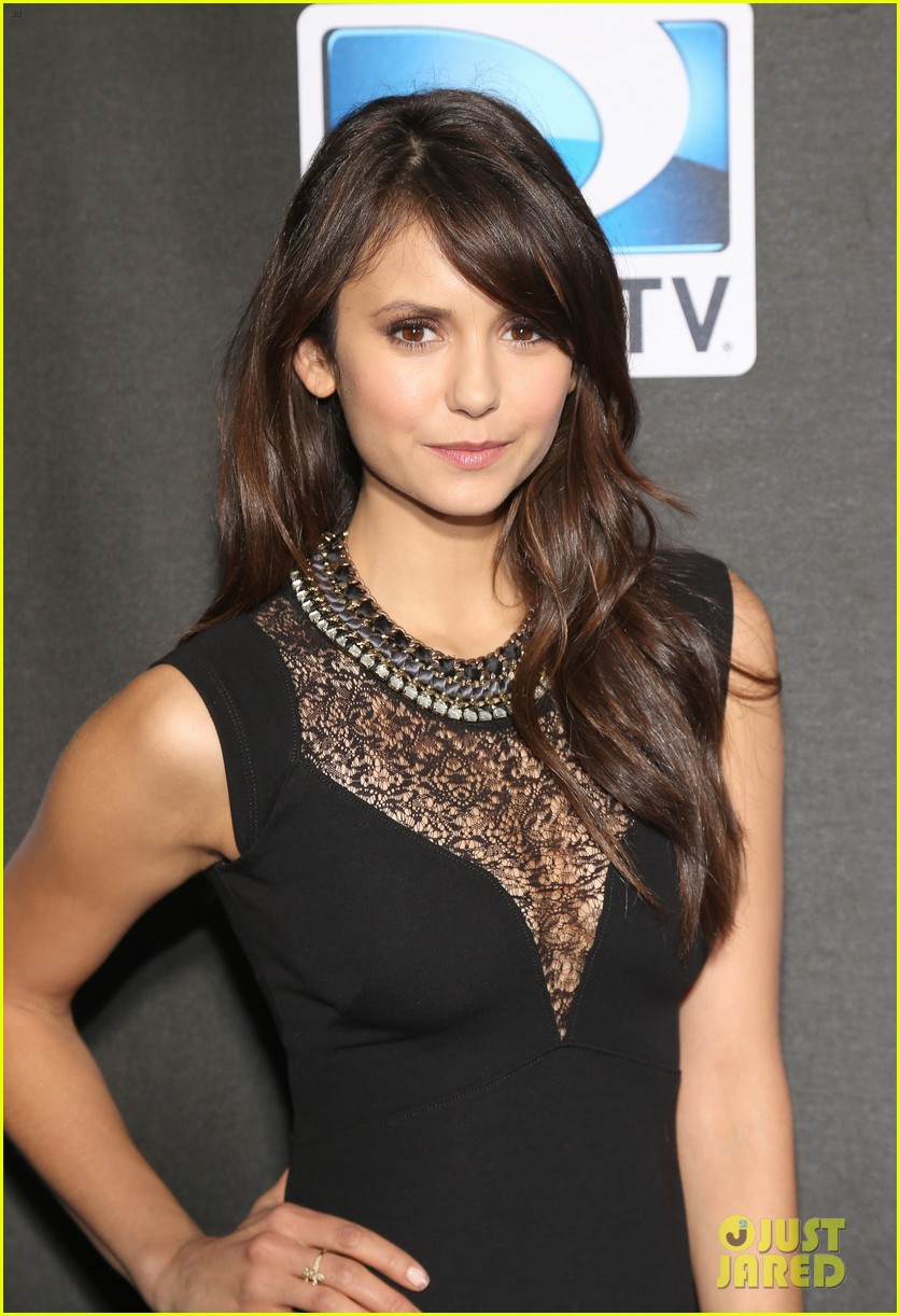 paul wesley nina dobrev directv superbowl party 06