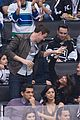 cory monteith lea michele canucks game cute 06