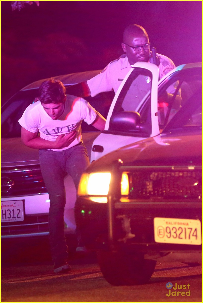 zac efron arrested townies set 12