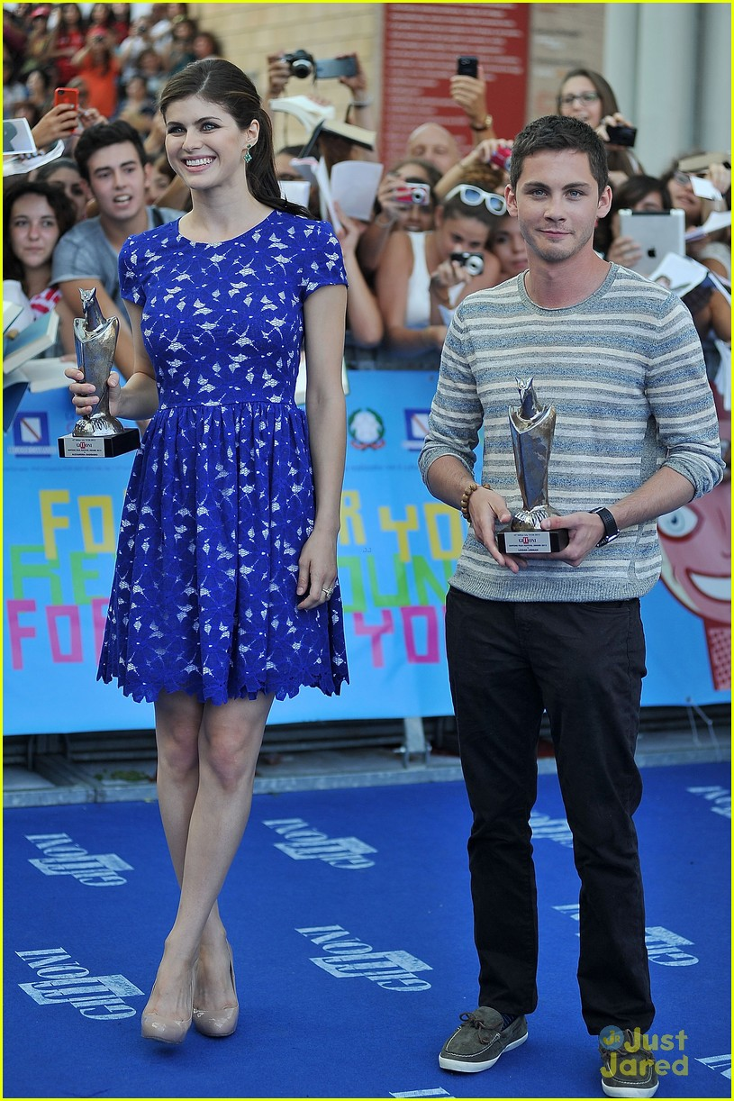 Logan lerman and alexandra daddario dating proof read. Dating for one night.
