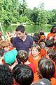 logan lerman alexandra daddario camp visit 07