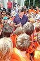 logan lerman alexandra daddario camp visit 14