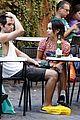 penn badgley zoe kravitz kisses in rome 16