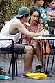 penn badgley zoe kravitz kisses in rome 26