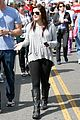 ariel winter makes a furry friend at the farmers market 21