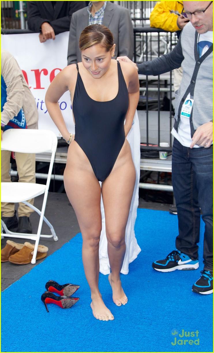 Adrienne Bailon Swim For Relief Participant Photo