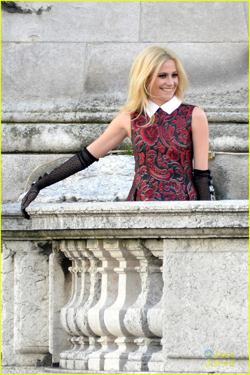 pixie lott paris music video shoot 13
