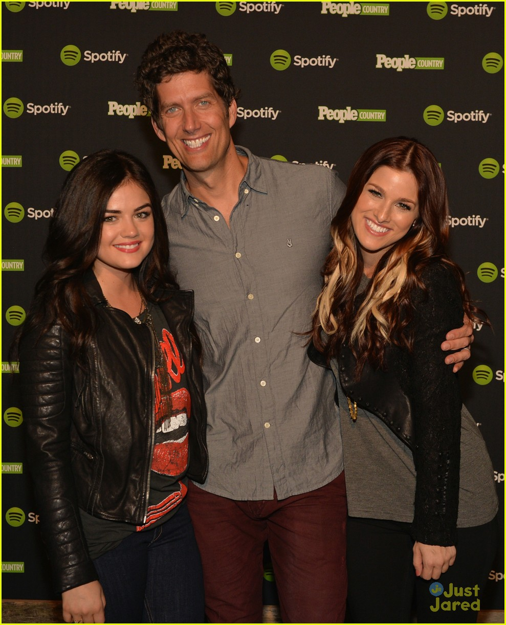 cassadee pope lucy hale spotify event 03