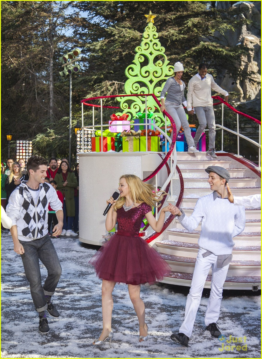 dove cameron let it snow disney christmas parade watch 01
