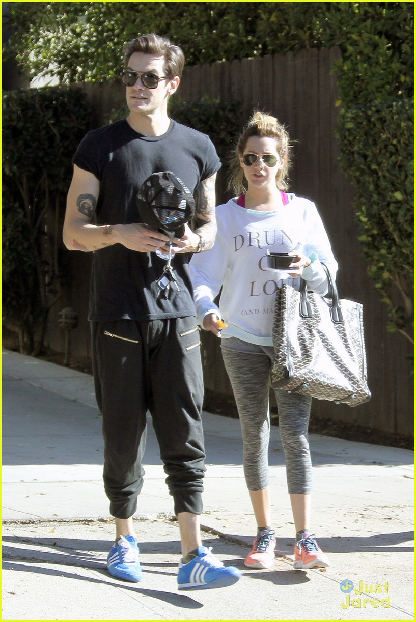 ashley tisdale christopher french mid week workout 01
